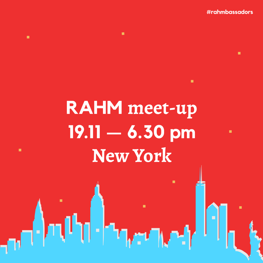 RAHM Meet-up in New York