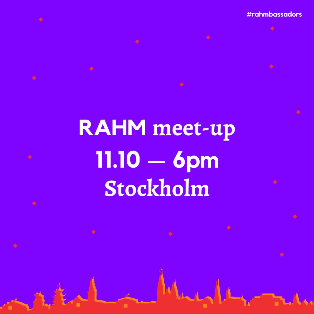 RAHM Meet-up in Stockholm