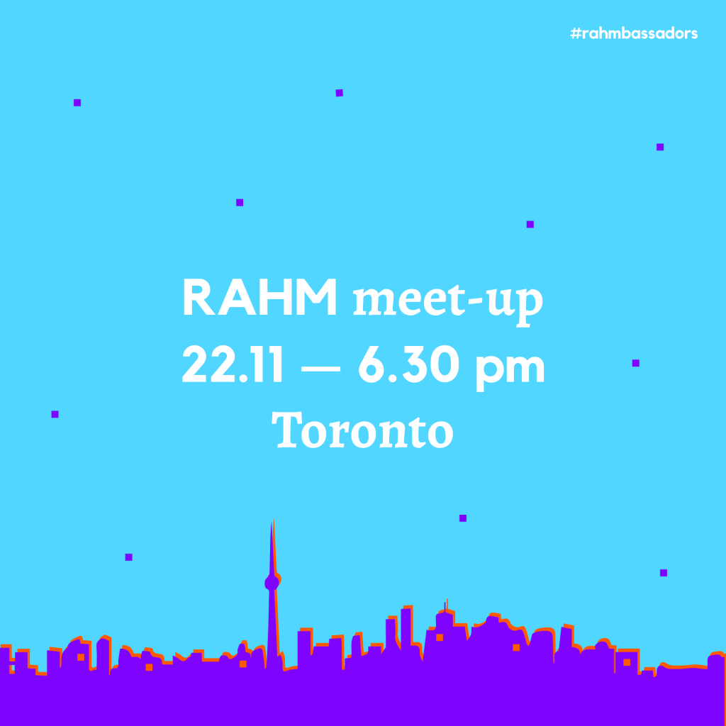 RAHM Meet-up in Toronto