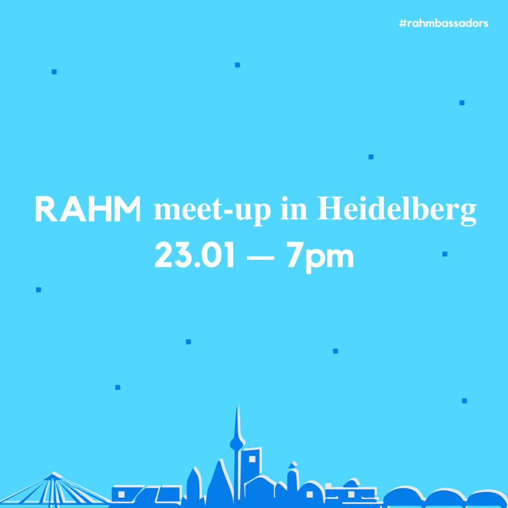 RAHM Rhein Neckar Region Meet-up