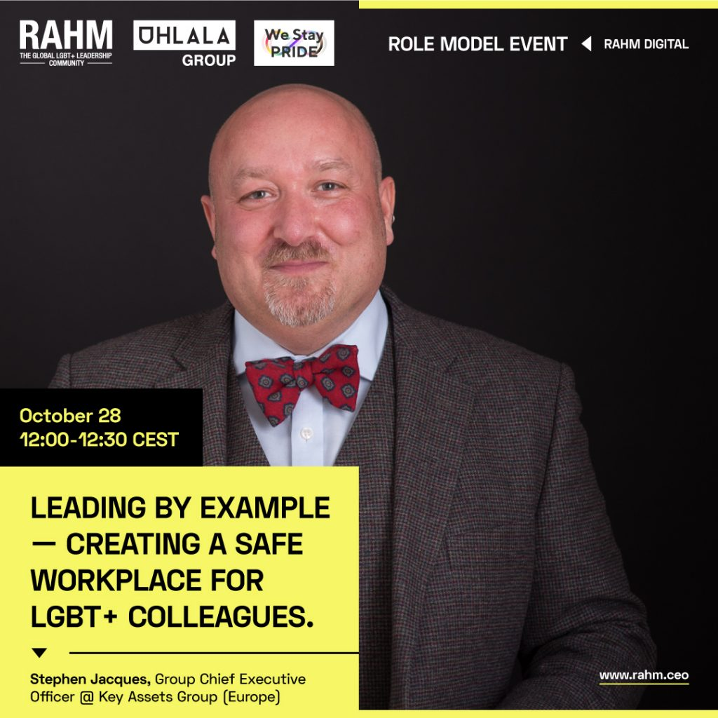 Role Model event: Leading by Example – Creating a Safe Workplace for LGBT+ Colleagues