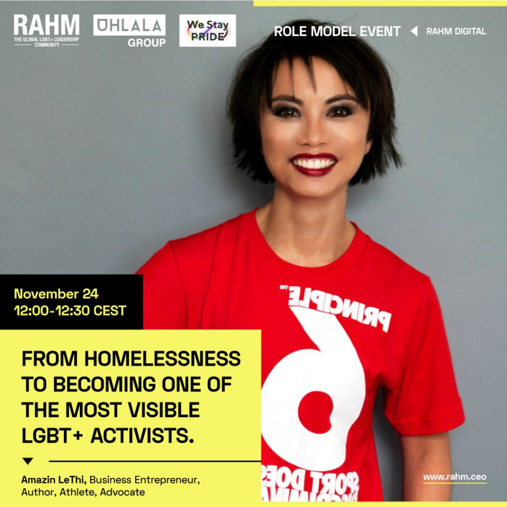 Role Model Event: From Homelessness to Becoming One of the Most Visible LGBT+ Activists
